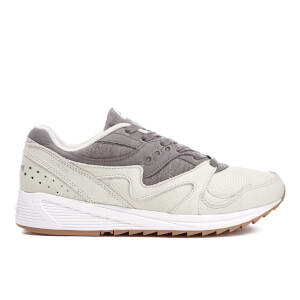 Saucony Men's Grid 8000 Heritage Trainers - Light Grey/Dark Grey