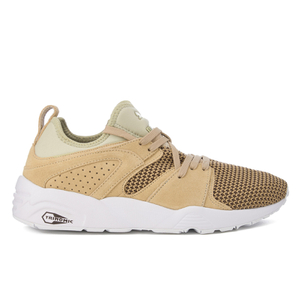 Puma Men's Blaze of Glory Soft Tech Trainer - Khaki Chest