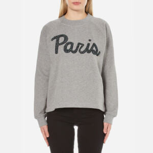 Samsoe & Samsoe Women's Aphia O-Neck Paris Jumper - Dark Grey Melange