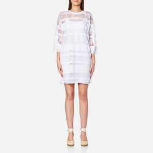BOSS Orange Women's Diburn T-Shirt Dress - White