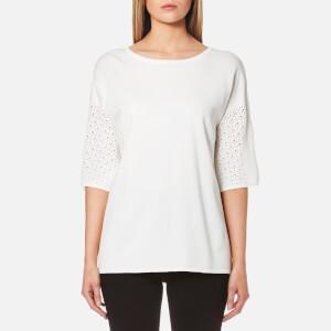 BOSS Orange Women's Wittoria Knitted T-Shirt - White