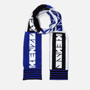 KENZO Cotton Sporty Football Scarf - Blue/Black