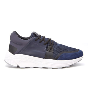 ETQ. Men's Sonic Rubberised Leather Trainers - Midnight