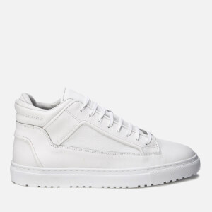 ETQ. Men's Mid Top 2 Leather Trainers - White