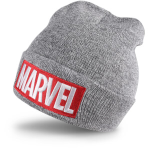 Marvel Men's Logo Beanie - Grey