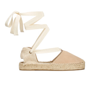 Soludos Women's Gladiator Suede Espadrille Sandals - Cream