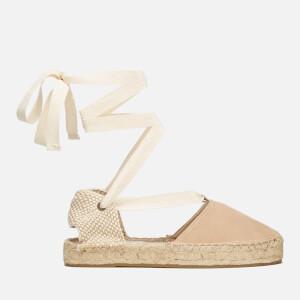 Soludos Women's Gladiator Suede Espadrille Sandals - Cream