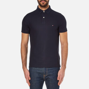 Tommy Hilfiger Men's Slim Fit Small Logo Polo Shirt - Midnight