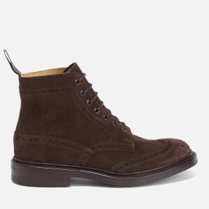 Tricker's Men's Stow Suede Lace Up Boots - Coffee