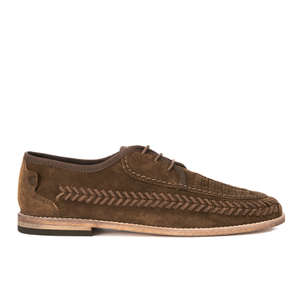 H Shoes by Hudson Men's Anfa Suede Lace Up Weave Shoes - Tobacco