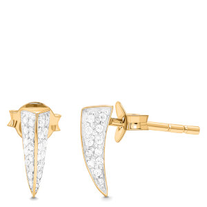 Missoma Women's Dagger Pave Stud Earrings - Gold