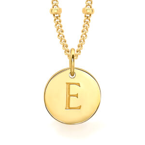 Missoma Women's Initial Charm Necklace - E - Gold