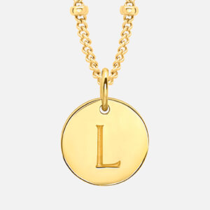 Missoma Women's Initial Charm Necklace - L - Gold