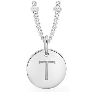 Missoma Women's Initial Charm Necklace - T - Silver