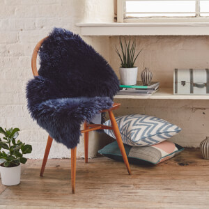Royal Dream Large Sheepskin Rug - Midnight Blue
