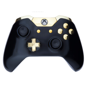 Xbox One Custom Controller - Gloss Black Gold