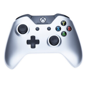 Manette Sans Fil Xbox One Custom -Édition Gloss Argenté