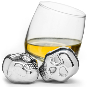 Sagaform Club Skull Ice Cubes - Metallic