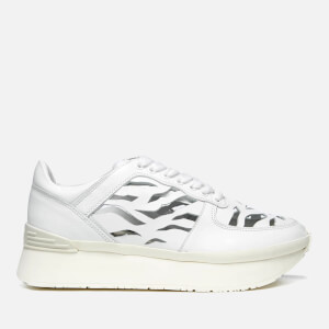 KENZO Women's K Run Cut Out Trainers - White