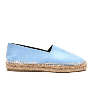 KENZO Women's Leather Tiger Espadrilles - Sky Blue