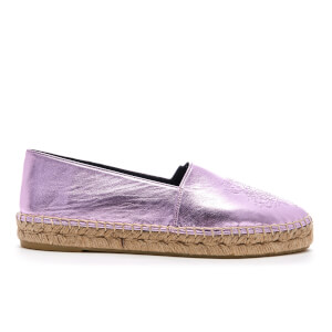 KENZO Women's Metallic Tiger Espadrilles - Rose