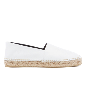 KENZO Women's Leather Tiger Espadrilles - White