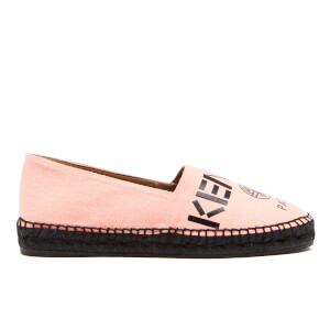 KENZO Women's Canvas Logo Espadrilles - Faded Pink
