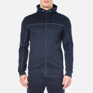 BOSS Green Men's Saggy Zipped Hoody - Navy