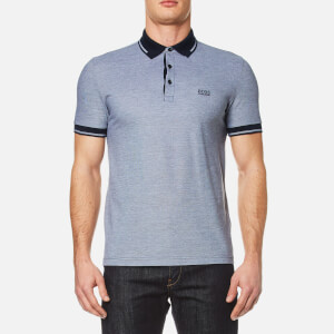 BOSS Green Men's Vito Tipped Polo Shirt - Navy