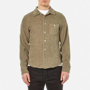 Garbstore Men's Club Towelling Shirt - Khaki