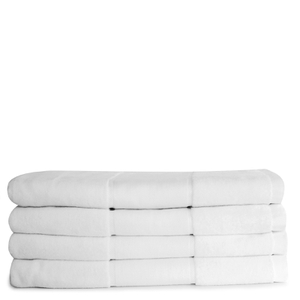 Aura.Via 100% Cotton 4 Pack Bath Towels - White