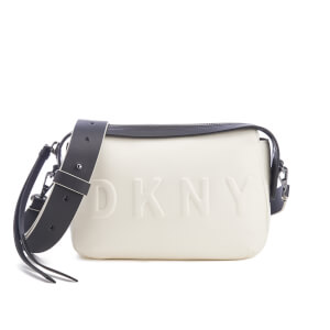 DKNY Women's Debossed Logo Cross Body Bag - Cream