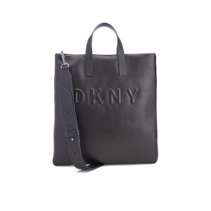 DKNY Women's Debossed Logo Tote Bag - Black