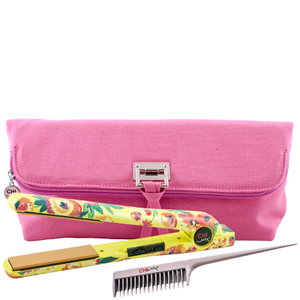 "CHI Air Classic Tourmaline Ceramic 1"" Flat Iron Hair Straighteners - Wildflower with Clutch and Backcomb"