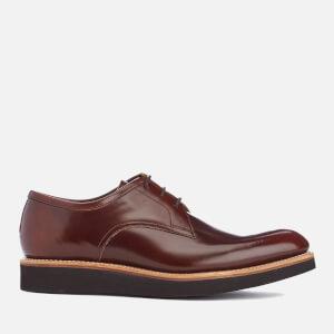 Grenson Men's Lennie High Shine Derby Shoes - Honey