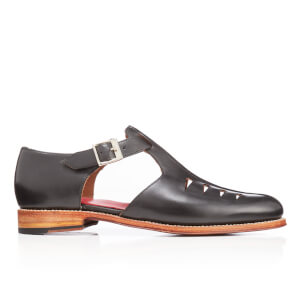 Grenson Men's Rafferty Leather Buckled Shoes - Black