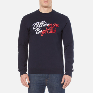 Billionaire Boys Club Men's Script Embroidered Sweatshirt - Navy