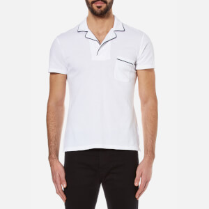 Orlebar Brown Men's Donald Tipped Polo Shirt - White