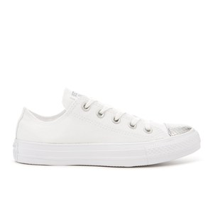 Converse Women's Chuck Taylor All Star Ox Trainers - White/Silver