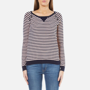 Maison Scotch Women's Basic Pullover with Button Closure at Shoulder - Combo E