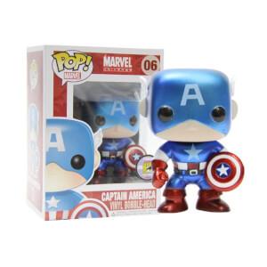 Funko Captain America Metallic (SDCC 2011) Pop! Vinyl