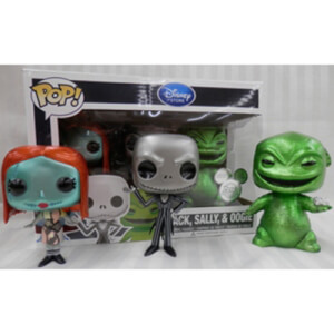 Disney Funko Jack Skellington, Sally & Oogie Boogie - Metallic Pop! Vinyl