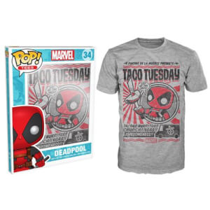 Funko Marvel Deadpool Pop! Tee Taco Tuesday Pop! Tees