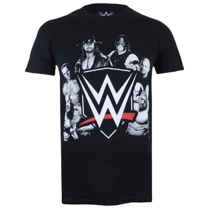 WWE Men's Group T-Shirt - Black