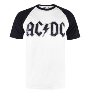 ACDC Men's Logo Raglan Logo T-Shirt - White/Black