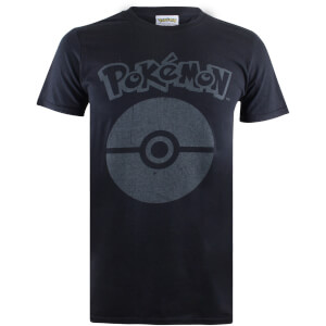 Pokemon Men's Pokeball Symbol T-Shirt - Black
