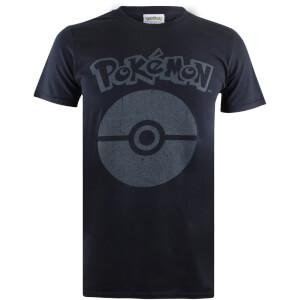 T-Shirt Homme Pokémon Pokéball Symbol - Noir