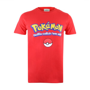 T-Shirt Homme Pokémon Logo Gotta Catch Em All - Rouge