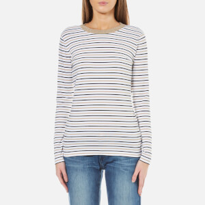 MICHAEL MICHAEL KORS Women's Metallic Stripe Long Sleeve Top - White