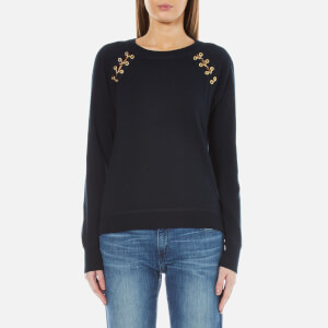 MICHAEL MICHAEL KORS Women's Laced Grommet Sweatshirt - New Navy